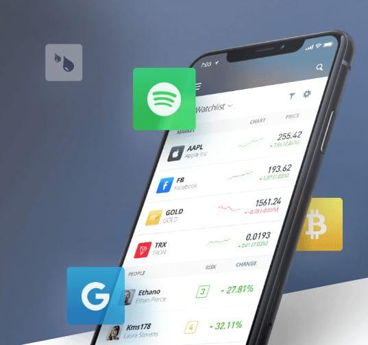 piattaforma mobile eToro