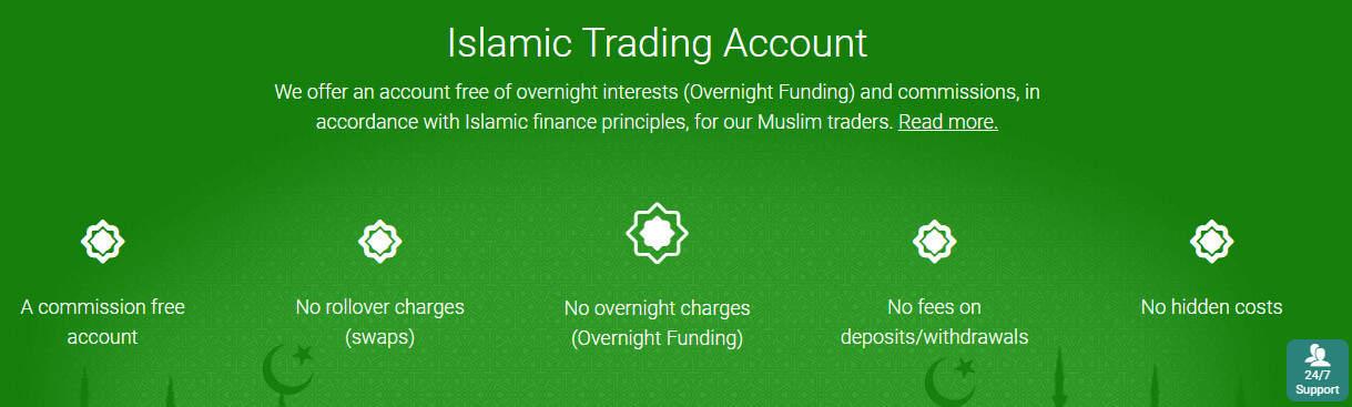 Conto islamico Plus500
