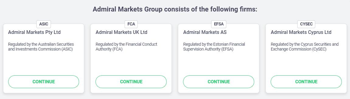 Licencias de Admiral Markets